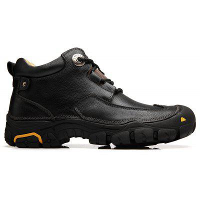 """MenS Boots for MenS Short Boots and Anti-Skid Boots in WinterMens Boots<br>MenS Boots for MenS Short Boots and Anti-Skid Boots in Winter<br><br>Boot Height: Ankle<br>Boot Type: Fashion Boots<br>Closure Type: Lace-Up<br>Embellishment: Fur<br>Gender: For Men<br>Heel Hight: Low(0.75""""-1.5"""")<br>Heel Type: Low Heel<br>Lining Material: Cotton Fabric<br>Outsole Material: Rubber<br>Package Contents: 1xBoots(pair)<br>Pattern Type: Solid<br>Season: Spring/Fall<br>Shoe Width: Medium(B/M)<br>Toe Shape: Round Toe<br>Upper Material: Genuine Leather<br>Weight: 1.8330kg"""