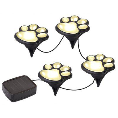 YWXLight Paw Print Solar Outdoor Garden Lights Set