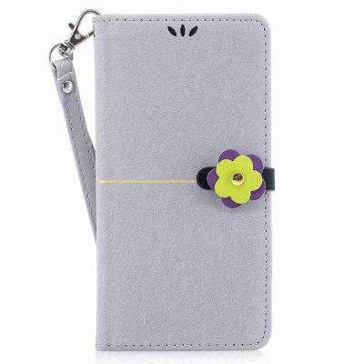 Gold Velvet Plum Blossom Head Pu Phone Case for Huawei P10 Plus