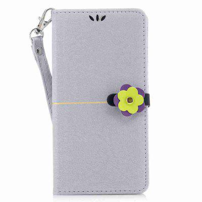 Gold Velvet Plum Blossom Head Pu Phone Case for Huawei P9 Lite
