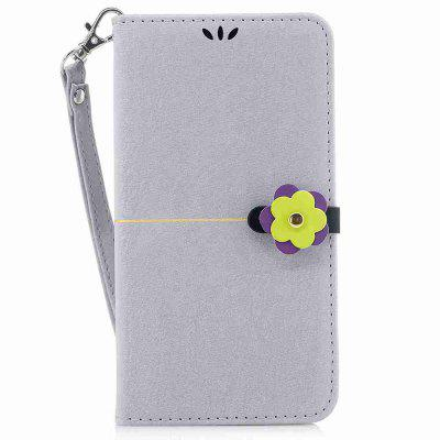 Gold Velvet Plum Blossom Head Pu Phone Case for Sony Xz