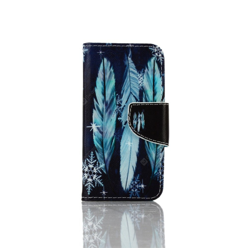 Knife and Draw Painted PU Phone Case for Iphone 5 / 5S / Se