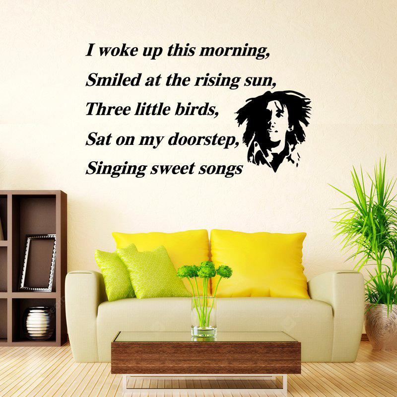 DSU Wall Art Sticker Decal Bob Marley Three Little Birds Quote ...