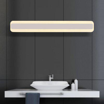 Brightness 60cm 20W Modern Brief LED Mirror Lamp Bathroom Lights 85 - 265V Stainless + Acrylic Wall Make-up LightingWall Lights<br>Brightness 60cm 20W Modern Brief LED Mirror Lamp Bathroom Lights 85 - 265V Stainless + Acrylic Wall Make-up Lighting<br><br>Brand: Brightness<br>Bulb Base: LED Integrated<br>Bulb Included: Yes<br>Color Temperature or Wavelength: 2700 - 3200K<br>Fixture Material: Metal<br>Light Source Color: Warm White<br>Number of Bulbs: 1<br>Package Contents: 1 x Light, 1 x Assembly Part<br>Package size (L x W x H): 65.00 x 13.00 x 10.00 cm / 25.59 x 5.12 x 3.94 inches<br>Package weight: 1.2500 kg<br>Power Supply: AC<br>Product size (L x W x H): 60.00 x 4.50 x 8.00 cm / 23.62 x 1.77 x 3.15 inches<br>Product weight: 0.9000 kg<br>Production Mode: Self-produce<br>Selling Point: Bulb Included,LED,Mini Style<br>Shade Material: Acrylic<br>Style: Modern/Contemporary, Simple<br>Type: Bathroom Lighting<br>Voltage: 85-265V<br>Wattage: 20W<br>Wattage per Bulb ( W ): 20