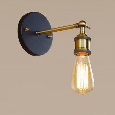 Brightness Wall Light Lamp Industrial Retro Rustic Loft StyleWall Lights<br>Brightness Wall Light Lamp Industrial Retro Rustic Loft Style<br><br>Brand: Brightness<br>Bulb Base: E26<br>Bulb Included: No<br>Finish: Electroplating<br>Fixture Material: Metal<br>Light Direction: Ambient Light<br>Number of Bulbs: 1<br>Overall Depth ( CM ): 15<br>Overall Height ( CM ): 10<br>Overall Width ( CM ): 5<br>Package Contents: 1 x Light, 1 x Assembly Part<br>Package size (L x W x H): 15.00 x 15.00 x 15.00 cm / 5.91 x 5.91 x 5.91 inches<br>Package weight: 0.5000 kg<br>Power Supply: AC Power<br>Product weight: 0.3500 kg<br>Production Mode: Self-produce<br>Selling Point: Mini Style<br>Style: Modern/Contemporary, Simple, Rustic Lodge<br>Type: Wall Sconces<br>Voltage: 110-120V<br>Wattage: 60W<br>Wattage per Bulb ( W ): 60