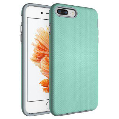 Buy GREEN Non-slip Surface Shockproof Back PC Case for iPhone 7 Plus for $3.52 in GearBest store