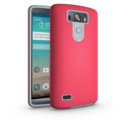 Buy RED Non-slip Surface Shockproof Back PC Case for LG G3 for $4.18 in GearBest store