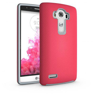 Buy RED Non-slip Surface Shockproof Back PC Case for LG G4 for $4.18 in GearBest store