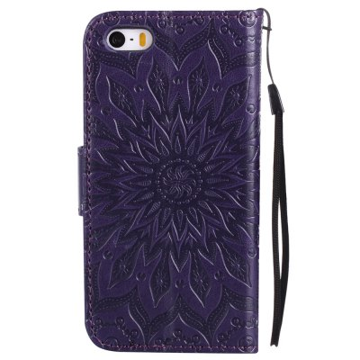 Sun Flower Printing Design Pu Leather Flip Wallet Lanyard Protective Case for iPhone 5S/5/SeiPhone Cases/Covers<br>Sun Flower Printing Design Pu Leather Flip Wallet Lanyard Protective Case for iPhone 5S/5/Se<br><br>Color: Rose Gold,Pink,Red,Blue,Green,Purple,Brown,Gray<br>Compatible for Apple: iPhone 5/5S, iPhone SE<br>Features: Cases with Stand, With Credit Card Holder, With Lanyard, Anti-knock<br>Material: TPU, PU Leather<br>Package Contents: 1 x Phone Case<br>Package size (L x W x H): 19.00 x 12.00 x 2.00 cm / 7.48 x 4.72 x 0.79 inches<br>Package weight: 0.1000 kg<br>Style: Floral