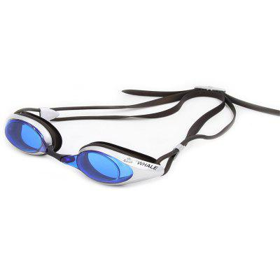 Buy SILVER AND BLUE Whale Comfortable Silicone Large Frame Swim Glasses Swimming Goggles Anti-Fog UV Men Women Swim Mask Waterproof Professional for $11.43 in GearBest store