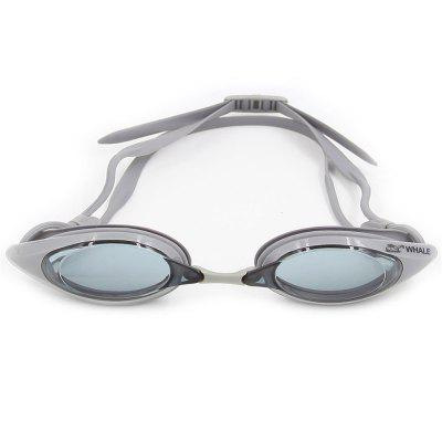 Buy GRAY Whale Comfortable Silicone Large Frame Swim Glasses Swimming Goggles Anti-Fog UV Men Women Swim Mask Waterproof Professional for $11.43 in GearBest store