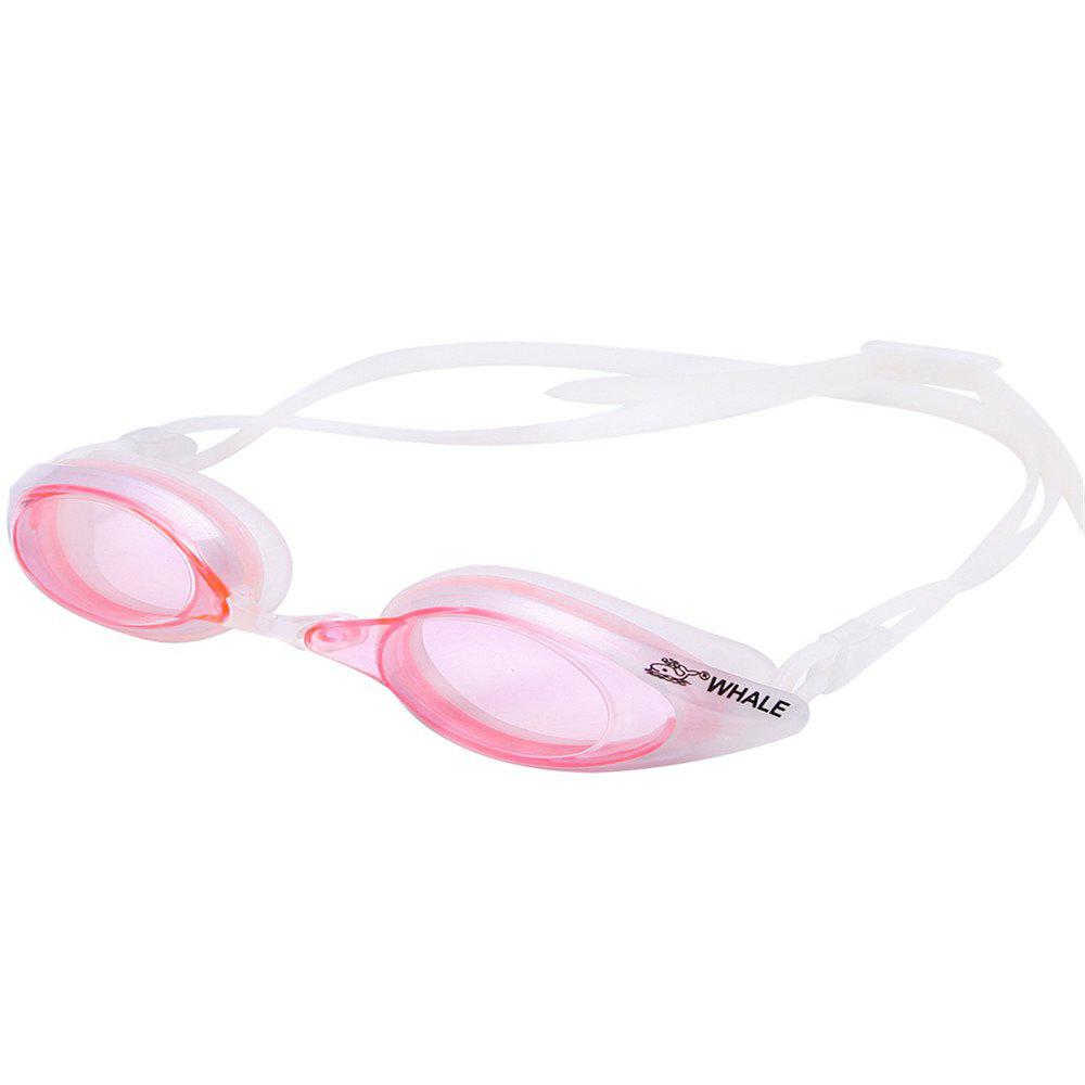 PINK Whale Comfortable Silicone Large Frame Swim Glasses Swimming Goggles Anti-Fog UV Men Women Swim Mask Waterproof Professional
