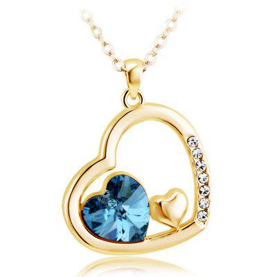 Mutual Affinity Love Heart Shape Jewelry Pendant Necklace Best Idea Gifts for Girls