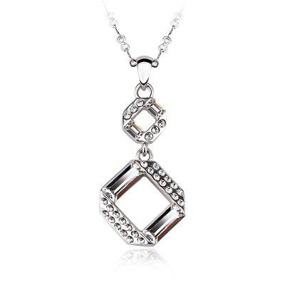Sterling Silver Plated White-Gold Jewelry pendant Necklaces for Womens girls