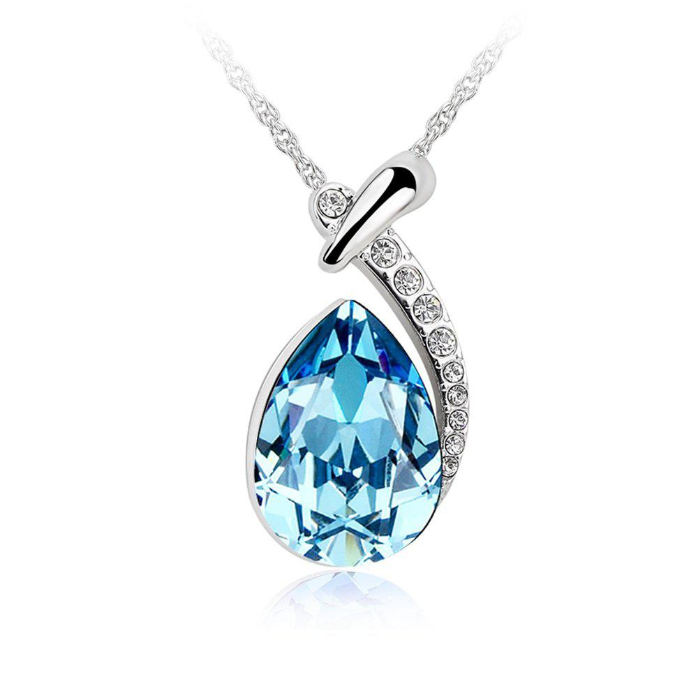 White gold plated swarovski crystal elements new designed teardrop white gold plated swarovski crystal elements new designed teardrop pendant necklace fashion jewelry for women aloadofball Gallery