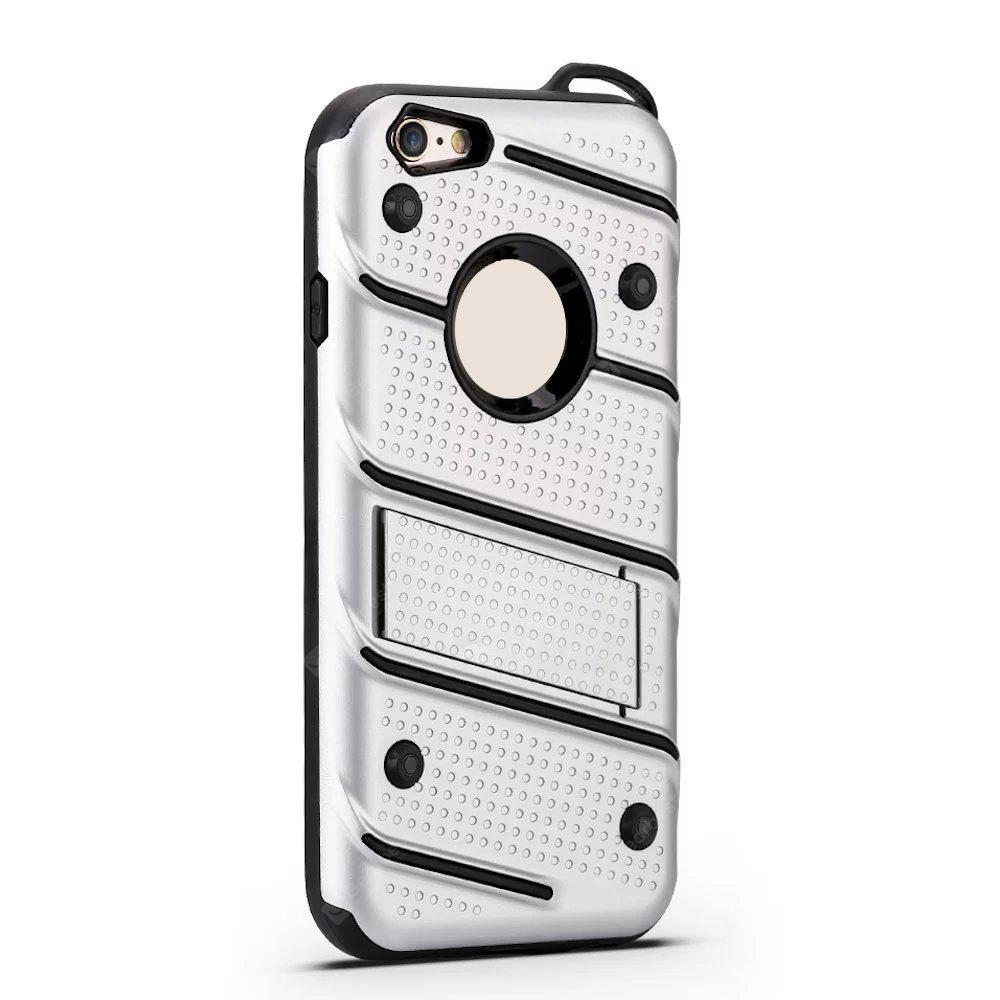 Wkae Ultra Thin Dual Layer Shockproof TPU Back Cover Case with Kickstand for iPhone 6 / 6s