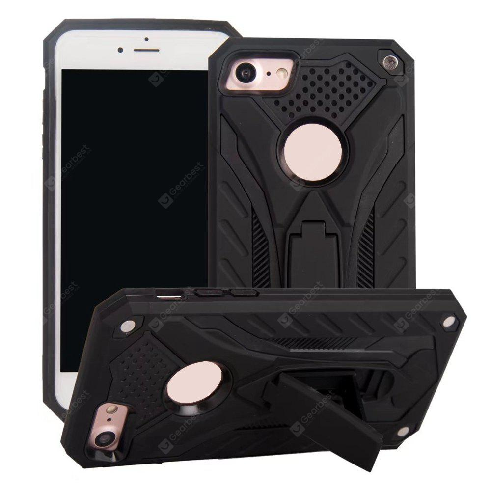 Wkae Dual Layer Hybrid Armor Protective Cover Case with Kickstand for iPhone 7 / 8