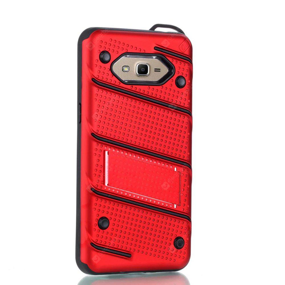 Wkae Ultra Thin Dual Layer Shockproof TPU Back Cover Case with Kickstand for Samsung Galaxy J2 Prime