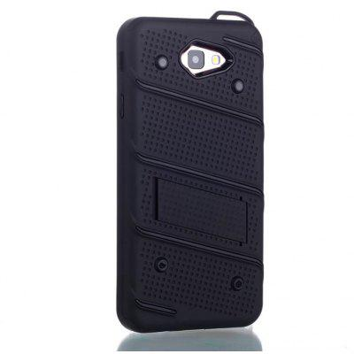 Wkae Ultra Thin Dual Layer Shockproof TPU Back Cover Case with Kickstand for Samsung Galaxy J7 Prime