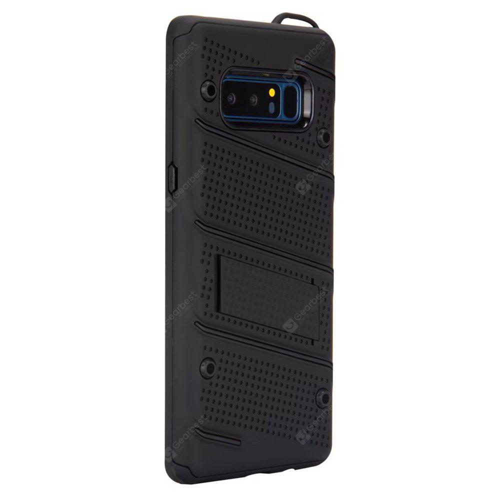 Wkae Ultra Thin Dual Layer Shockproof TPU Back Cover Case with Kickstand for Samsung Galaxy Note 8