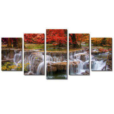 Stetched 5 Panels Red Tree Waterfall Landscape Modern Wall Art for Livingroom Decoration Ready To HangHome Gadgets<br>Stetched 5 Panels Red Tree Waterfall Landscape Modern Wall Art for Livingroom Decoration Ready To Hang<br><br>Brand: JOY ART<br>Craft: Print<br>Form: Five Panels<br>Material: Canvas<br>Package Contents: 1 x Set of Canvas Art<br>Package size (L x W x H): 62.00 x 10.00 x 27.00 cm / 24.41 x 3.94 x 10.63 inches<br>Package weight: 1.8000 kg<br>Painting: Include Inner Frame<br>Product weight: 1.4000 kg<br>Shape: Horizontal Panoramic<br>Style: Scenic, Modern Style<br>Subjects: Landscape<br>Suitable Space: Cafes,Hallway,Living Room