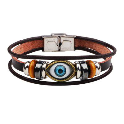 Buy Korean Style Contracted Personality Eye Leather Bracelet, BROWN #26, Watches & Jewelry, Fashion Jewelry, Bracelets & Bangles for $3.55 in GearBest store