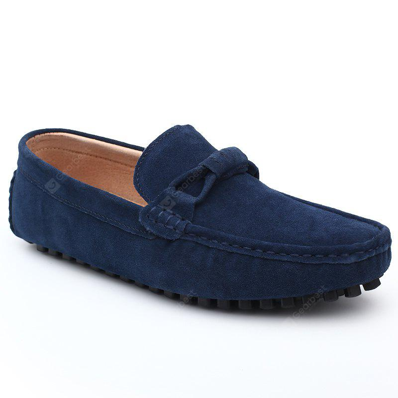The Fall of New Shoes Slip-On Doug Foot Soft Bottom Shoes Doug Comfortable Leather Men'S Shoes