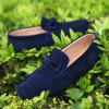 The Fall of New Shoes Slip-On Doug Foot Soft Bottom Shoes Doug Comfortable Leather Men'S Shoes - CERULEAN