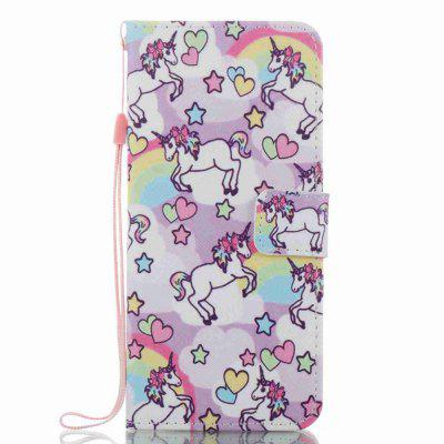 Pony Painted PU Phone Case for Samsung Galaxy S8