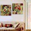 Yc Special Design Frameless Paintings Lilium of 2 - RED/CADETBLUE