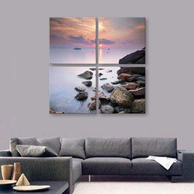 Yc Special Design Frameless Paintings Seaside Sunset of 4