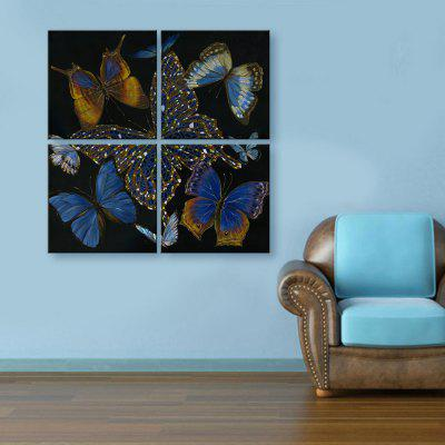 Yc Special Design Frameless Paintings Butterfly of 4