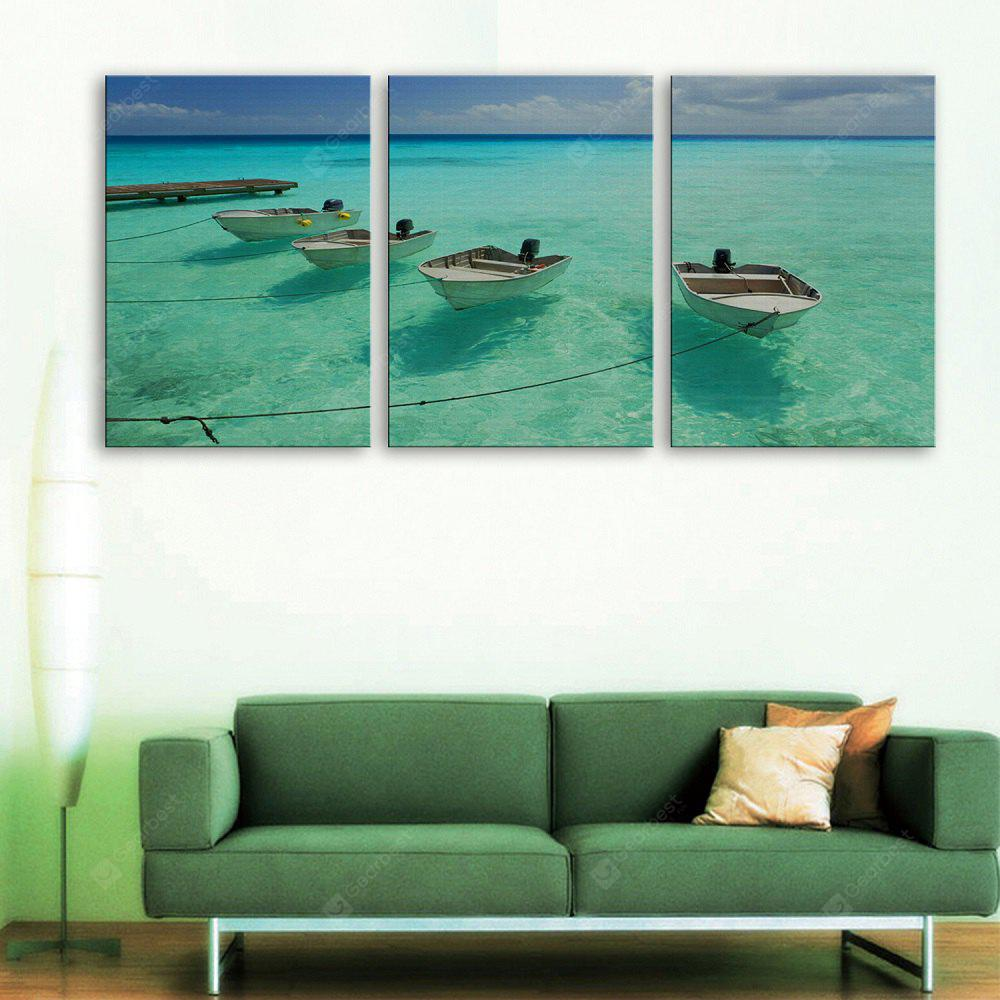 Yc Special Design Frameless Paintings The Boat And The Sea of 3
