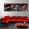Yc Special Design Frameless Paintings Falling Flowers of 3 - RED WITH BLACK