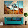 Yc Special Design Frameless Paintings A Dead Tree of 4 - BLUE AND BROWN