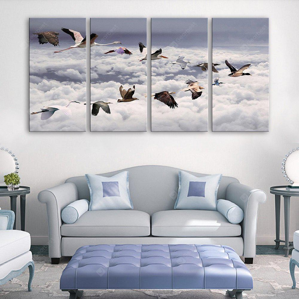 Yc Special Design Frameless Paintings The Birds Fly of 4