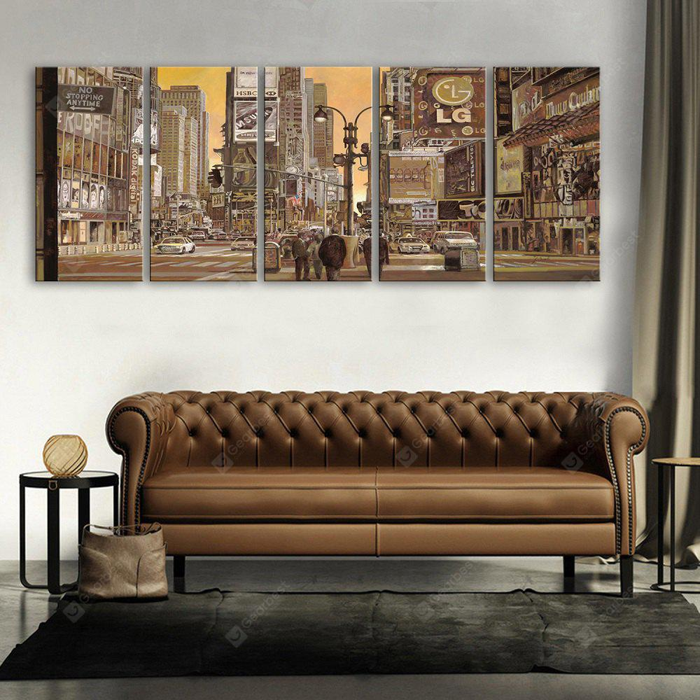 Yc Special Design Frameless Paintings Busy City of 5