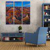 Yc Special Design Frameless Paintings The Hills of 3 - BLUE + BROWN