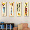 Yc Special Design Frameless Paintings Abstract Characters of 4 - YELLOW AND BLACK