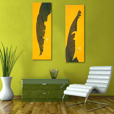 yc Special Design Frameless Paintings Banana Leaf of 2