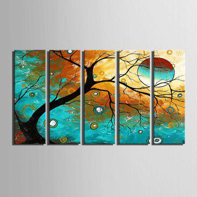 Yc Special Design Frameless Paintings Abstract Tree of 5