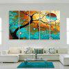 Yc Special Design Frameless Paintings Abstract Tree of 5 - BLUE AND GOLDEN