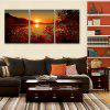 Yc Special Design Frameless Paintings The Setting Sun of 2 - ROSE RED