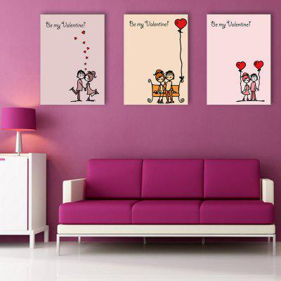 Yc Special Design Frameless Paintings Chinese Love Song of 3