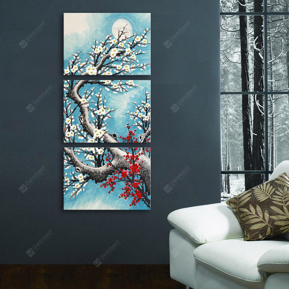 Yc Special Design Frameless Paintings Plum In Cold of 3