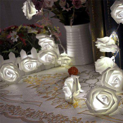 JIAWEN Fairy Christmas Garland Rose-shape String LightNovelty lighting<br>JIAWEN Fairy Christmas Garland Rose-shape String Light<br><br>Available Light Color: Colorful,Pink,Red,Warm White,White<br>Body Color: White<br>Brand: JIAWEN<br>Color Temperature or Wavelength: 700 - 635nm ( red ) / 560 - 490nm ( green ) / 490 - 450nm ( blue )<br>Features: Easy to use, Energy Saving<br>Function: Home Lighting<br>Output Power: 5W<br>Package Contents: 1 x String Light ( batteries not included )<br>Package size (L x W x H): 22.00 x 15.00 x 8.00 cm / 8.66 x 5.91 x 3.15 inches<br>Package weight: 0.1000 kg<br>Product weight: 0.0560 kg<br>Sheathing Material: PC<br>Voltage (V): 3V