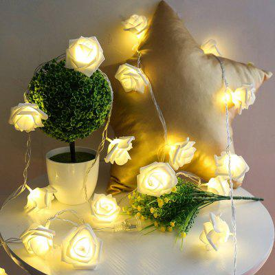 JIAWEN Fairy Christmas Garland Rose-shape String Light