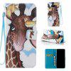 Bird Deer Painted PU Phone Case for Samsung Galaxy S8 Plus - COLORMIX
