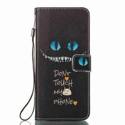 Blue Eyes Painted PU Phone Case for Samsung Galaxy S8 Plus