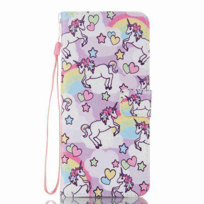 Pony Painted PU Phone Case for Samsung Galaxy S8 Plus